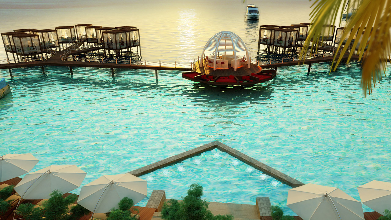 Swim in the Lagoon, enjoy the exclusivity of the traditional Sea Hammams...